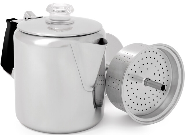 GSI Glacier Stainless Percolator for 6 Cups 900ml with Silicone Handle